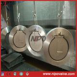 Tipo forgiato singola valvola di ritenuta della cialda dell'acciaio inossidabile dell'oscillazione del piatto
