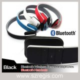 Moda sem fio estéreo de áudio fone de ouvido com fone de ouvido Bluetooth