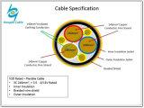 Flexibles Energien-Kabel des Gummi 3*240+3*35 Belüftung-Frequenzumsetzer-VFD