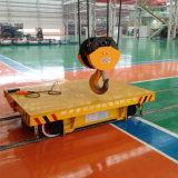 Flacher Bahnlastwagen auf Schwenktisch für schweren Geräten-Transport