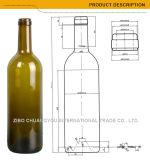 Бутылка зеленого цвета красного вина на сбываниях (1038)
