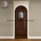 Portello di entrata superiore rotondo di legno solido