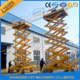 plate-forme mobile de levage de travail aérien de roues du levage 4 des ciseaux 10m