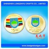Монетка металла плакировкой золота оптового высокого качества изготовленный на заказ для подарков сувенира