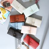 Titulaire de la carte Waallet d'embrayage sac à main poche gousset Portefeuille Portefeuille en cuir de femmes Mesdames Mini sac à main avec l'ID de fenêtre (WDL01081)