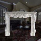 Camino di marmo bianco naturale di stile francese per la decorazione domestica M-13