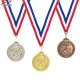 Personalizar el cordón de fútbol de alta calidad de la medalla de metal