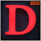 Переднего освещения красивый алфавит письмо с помощью PMMA