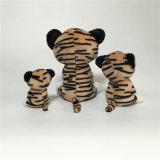 Mignon assis Tiger nouveau Pattern jouet en peluche doux de grands yeux