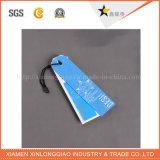 O balanço da impressão da etiqueta do papel de pano personalizou o Tag plástico do cair do vestuário