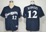 Men Women Kids National League Milwaukee Brewers Gum Baseball Jerseys