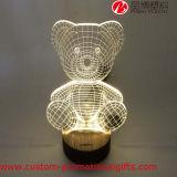 Bär Shape USB Powered 3D Illusion Table Lamp