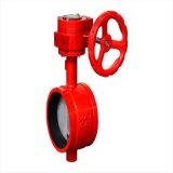 Водяного пожаротушения с канавками двухстворчатый клапан