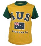襟足のオーストラリアの伸縮性がある男性綿のTシャツ