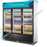 Réfrigérateur commercial d'étalage de boisson de supermarché de compresseur éloigné avec 3 portes en verre