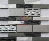 Glass Mosaic Tile (CFM982)のストリップShape Aluminium