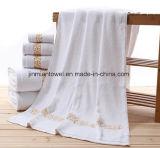 卸売70X140cmの600g白く明白な浴室タオル、テリータオル