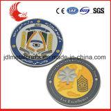 Pièces de monnaie faites sur commande de souvenir de placage de son du bord 2 de coupure de diamant