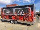 Rimorchio mobile d'approvvigionamento dell'alimento del camion dell'alimento della via della cucina del carrello della dogana