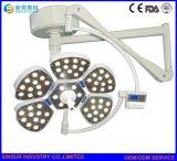 Equipo de Hospital única cabeza ajustable LED lámpara de techo quirúrgico operativo