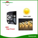 Lámparas de pared solares impermeables Trayectoria del ABS LED Luz solar al aire libre Lámparas de la pared del jardín Lámpara de la cerca de la trayectoria de la yarda para el corredor casero