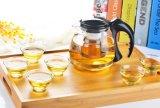 Qualitäts-Glasteekanne mit Edelstahl-Grobfilter