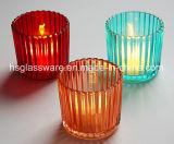 Listras verticais Style Vidro Multicor suporte para velas