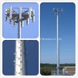 30 Toren van de Mast van de Telecommunicatie van de Hete ONDERDOMPELING van de meter Monopole Gegalvaniseerde
