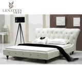 A056 الأناقة الفرنسية أثاث غرفة نوم سرير جلد طبيعي
