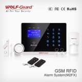 RFIDのカードが付いているGSMの警報システムおよび接触キーパッドの家の安全Yl-007m2fxのための情報処理機能をもった無線電信GSMの強盗の機密保護の警報システム