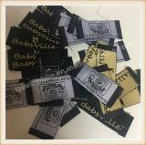 L'étiquette tissée par vêtement en gros a personnalisé l'impression d'étiquette d'écran en soie de vêtement