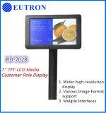 Design inovador 7'' Media TFT-LCD para sistema POS