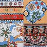 El norte de Europa el estilo de decoración de pared y piso de porcelana esmaltada azulejo mosaico de suelos de 300x300mm F019