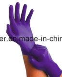 La barretta strutturata alta qualità poco costosa di prezzi si capovolge liberamente in polvere guanti a gettare del nitrile della polvere e dell'esame