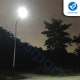 Illuminazioni stradali solari della lampada esterna dell'indicatore luminoso LED con la batteria di litio