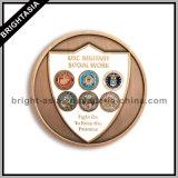 Монетка сплава 3D цинка с логосом 2 сторон с бронзовой отделкой (BYH-101125)