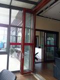 Portelli di piegatura di alluminio con la vetratura doppia per la Camera