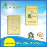 Monete di oro concise su ordinazione dell'atmosfera di modo del rifornimento 24k pure