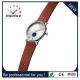 Reloj de señoras de encargo de cuero de la correa de relojes del OEM (DC-077)