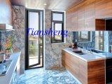 二重ガラスアルミニウム開き窓のWindowsおよびドア