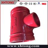 FM UL Vendita a caldo ferro duttile zincato filettato riduzione Tee fabbrica per antincendio, tubo minerario, cemento, liquame