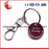 Stampa di scultura in lega di zinco il vostro segno Keychain del carrello di marchio