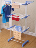 卸売価格はFoldable金属3つの層の着せる乾燥ラック(JP-CR300W)に