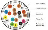 10 accoppiamenti di Cat3 del cavo telefonico riempito gelatina per la telecomunicazione esterna