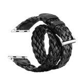Cinturino di vigilanza nero 42mm del cuoio del tessuto di colore di disegno 38mm di modo di prezzi di fabbrica