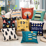 A roupa de algodão grosso Sofá decorativo impresso capa do assento atirar caso almofadas 150g