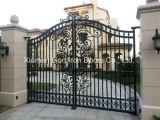 熱い電流を通す金属は細工した住宅の鉄のゲートをゲートで制御する