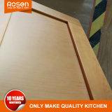 Мебель из тикового дерева из естественной древесины шпона продажи кухонным шкафом