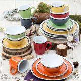 Glaze lucido Highquality Ceramic 16PCS Dinnerware Set