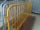 직류 전기를 통하는 1.1X2.1m 군중 통제 방벽 또는 분말 입히는 이동할 수 있는 안전 방벽